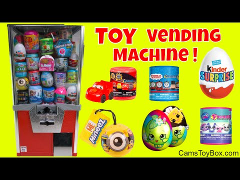 Thumbnail: Toy Vending Machine Surprises Kinder Egg Minions Mineez Shopkins Cars 3 LPS Fashems Mashems Toys