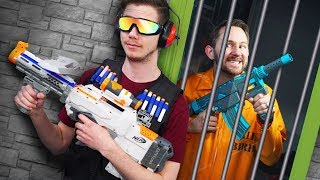NERF Robot Prison Escape | Repair Droid Challenge!