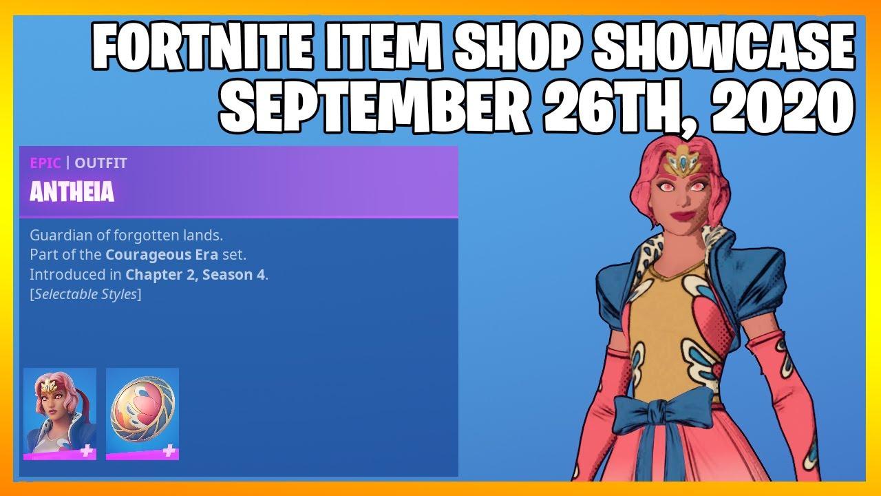 Fortnite Item Shop *NEW* COURAGEOUS ERA SET! [September 26th, 2020] (Fortnite Battle Royale)