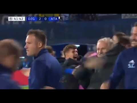Hatrick M Orsic Dinamo Zagreb 4 0 Atalanta Youtube