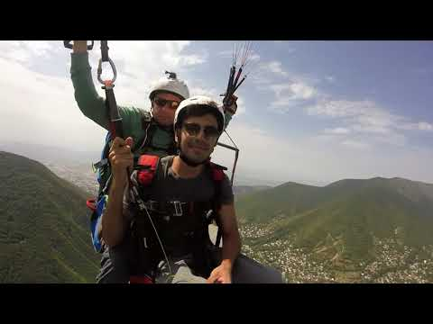 Khanland Paragliding, Shaki, Azerbaijan (полёт над Кавказом) filmed by GoPro
