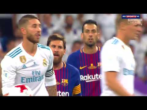 Sergio Ramos Trolling Lionel Messi (Real Madrid vs FC Barcelona)