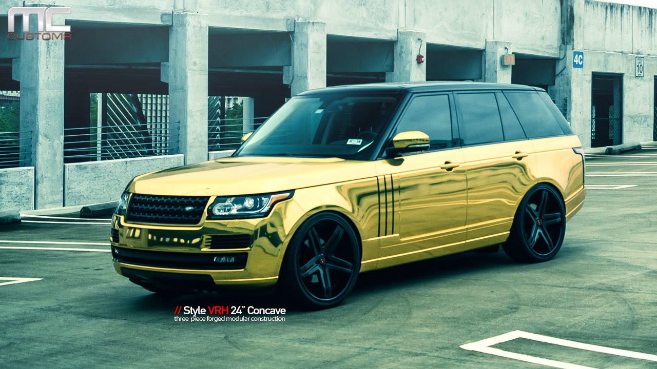 Mc Customs Gold Land Rover Range Rover 183 Vellano Wheels