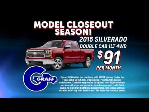 Model Closeout Season At Hank Graff Chevrolet Mt. Pleasant