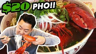 IS $20 PHO WORTH IT?! (Lobster and Wagyu?!)   Fung Bros