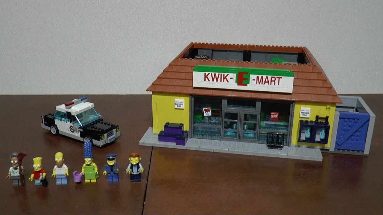 Lego The Simpsons 71016 Sklep Kwik E Mart Część 2 Youtube