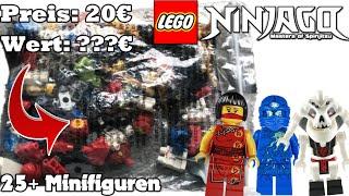 Lego Ninjago Mysterie Pack mit 24+ Minifiguren (Unboxing)   Über 100€ Plus