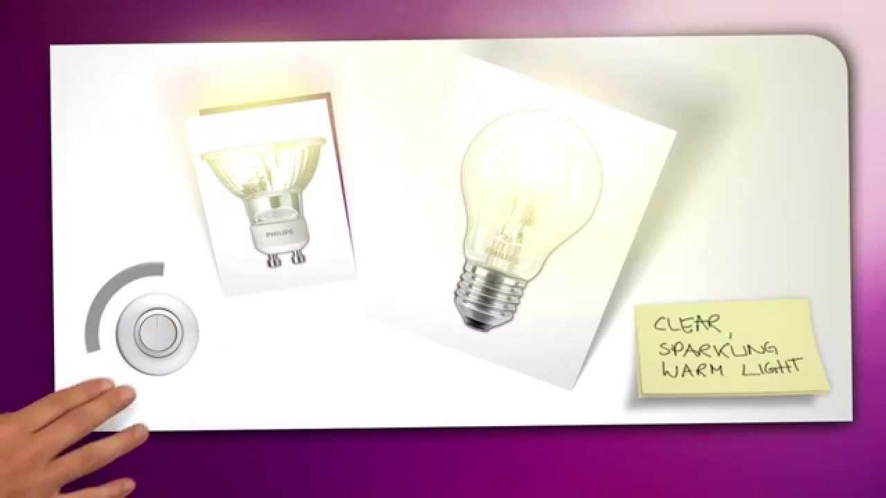 Philips Lighting tutorial halogen light bulb