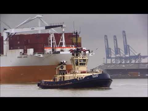 GRANDE LAGOS RoRo Cargo Ship, 03/02/2018. Thames Shipping by R.A.S.