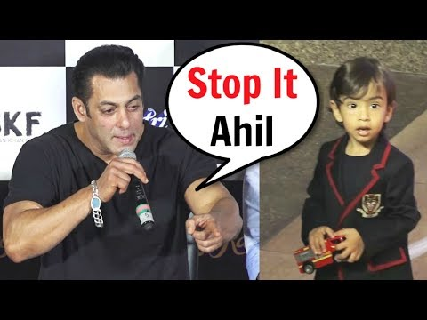 "Salman Khan Shouts On Nephew Ahil ""Stop It"" At Loveratri Trailer Launch"