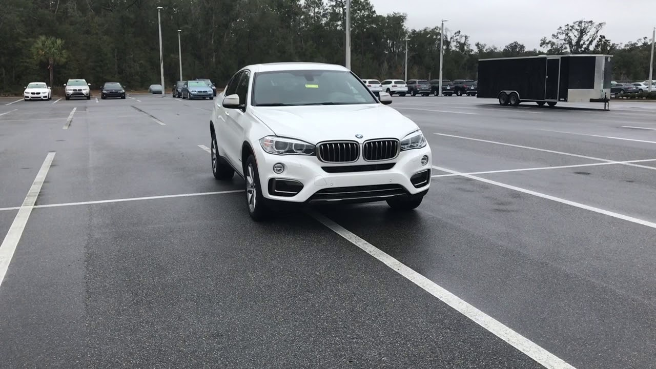 2017 X6 White Exterior And Saddle Brown