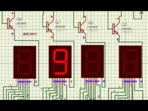 My First 7 Segment Project Multiplexing Display Youtube