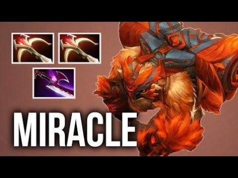 WTF BUILD DOTA2 Miracle- Crazy Earthshaker 2x Daedalus and Silver Edge Mid Carry Build Intense MMR