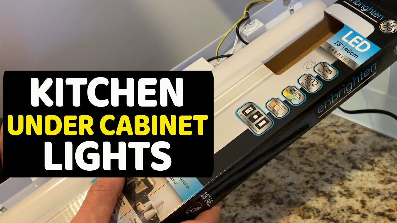 LED Direct Wire Under Cabinet Light GE Enbrighten 18 in