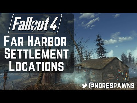 Fallout 4 Far Harbor - All New Settlement Locations