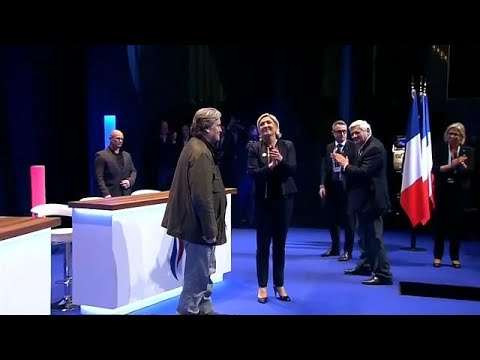 Bannon joins Le Pen at Front National Congress