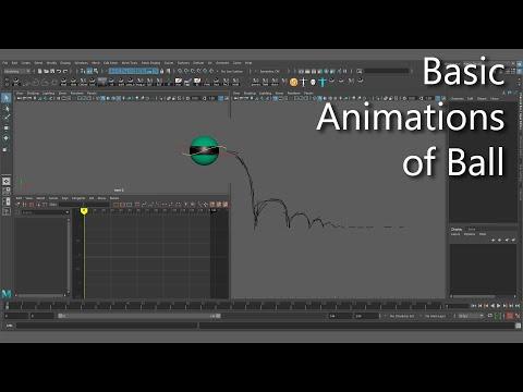 Базовая анимация мяча в Maya без GraphEditor (часть 1)