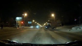 ДТП 1 января 2016 Челябинск, проезд на красный