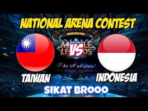 LIVE ARENA KONTES !! SIKATT BOOSSQUEE - INDONESIA VS TAIWAN   Mobile Legends 22 Maret 2018