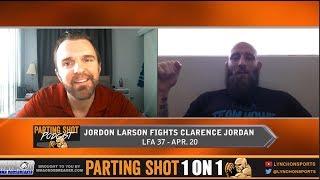 LFA 37's Jordon Larson looks to push the pace against Clarence Jordan
