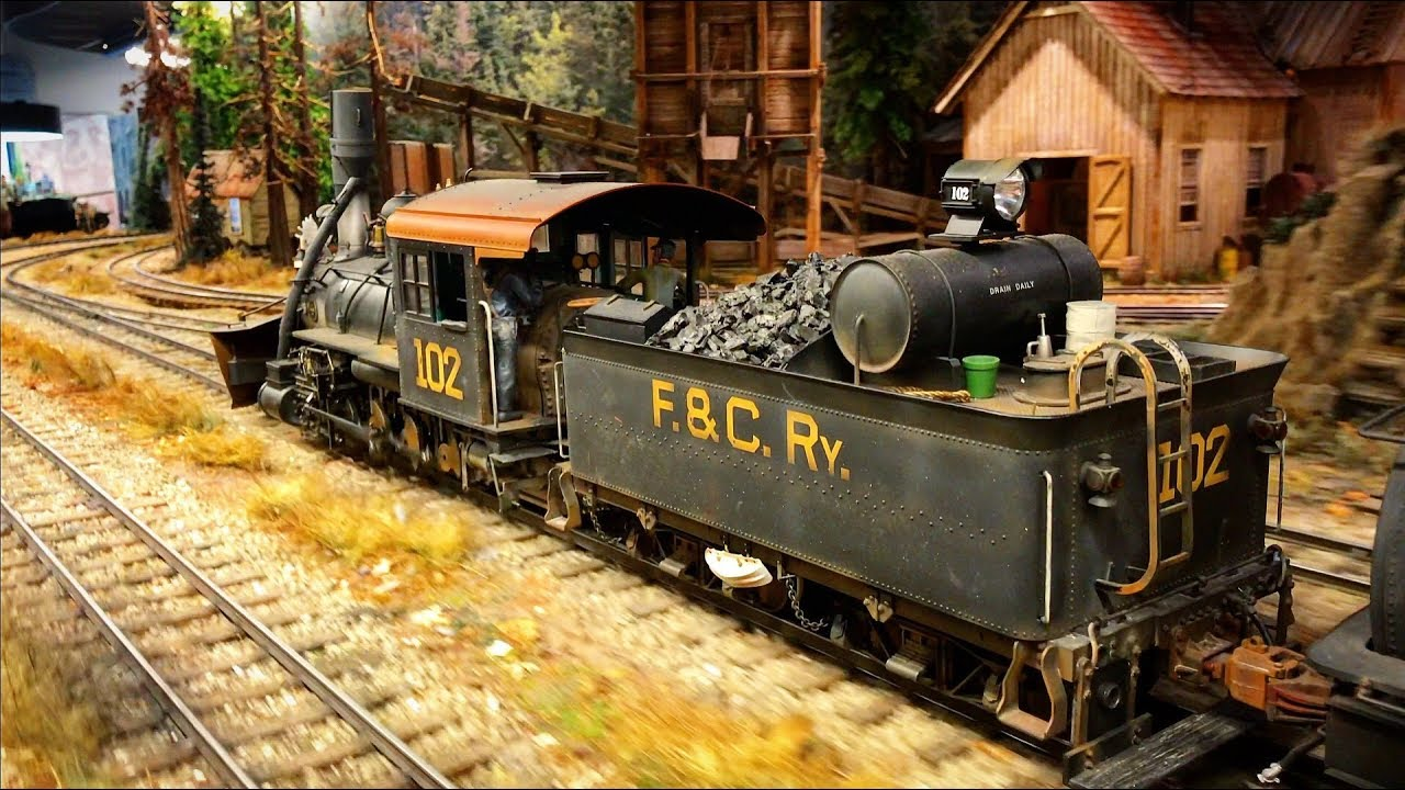 One Of The Best and Most Detailed Model Railroad Layout With Steam Trains in the World 4K UHD