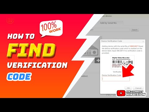 How To Find Device Verification Code - Hik Connect Hikvision Online