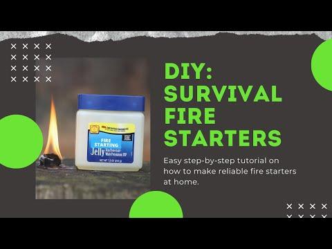 Classic DIY Survival Fire Starters: Camping, Survival, Bushcraft