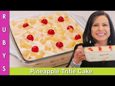 Pineapple Trifle Cake Recipe in Urdu Hindi - RKK