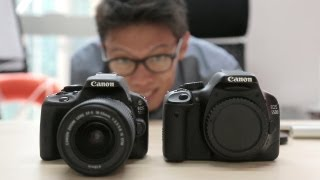 Canon EOS 100D / Rebel SL1 Hands-on Review(We take a look at Canon's tiny newcomer. The 100D(http://bit.ly/Canon-100D) is not quite compact-sized but it does compete with some mirrorless cameras in ..., 2013-05-15T15:38:44.000Z)