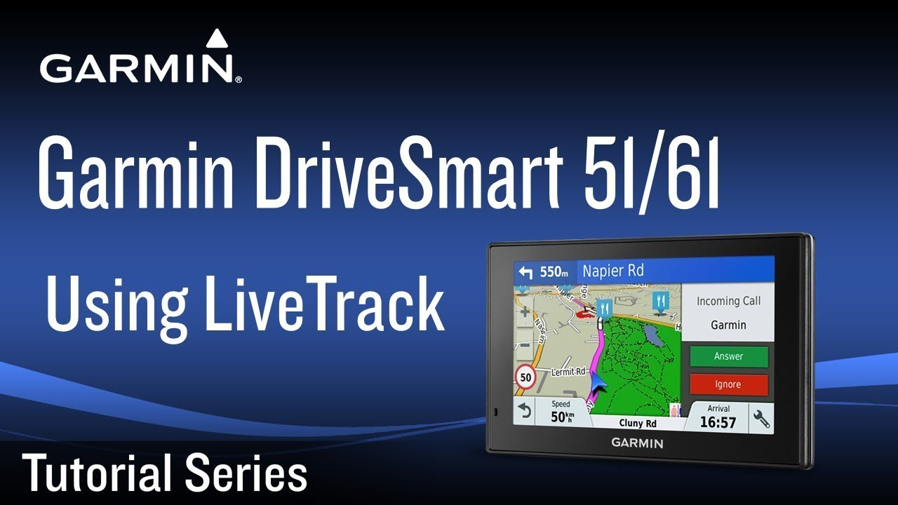 Tutorial - Garmin DriveSmart 51/61: Using LiveTrack