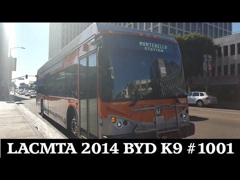 Los Angeles County Metropolitan Transportation Authority 2014 BYD K9 #1001