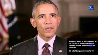 President Obama -  January 30th, 2016  - video caption - Providing students with computer science