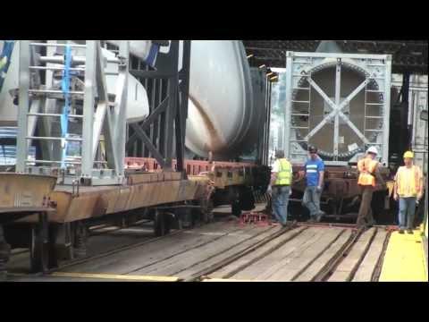Windmill train + Railbarge = Railfan Heaven!, Seattle, 6-20-2012