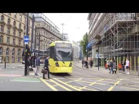 Manchester Metrolink - Light Rail In Manchester, UK 2016.