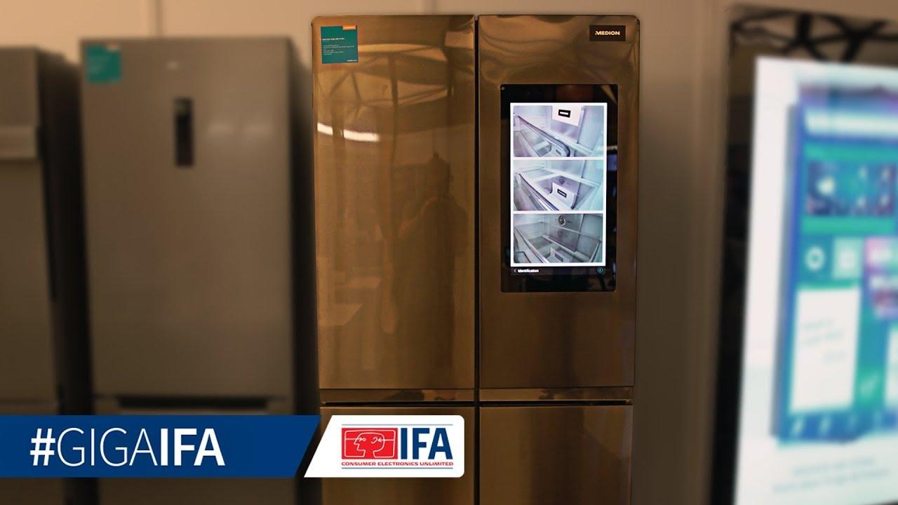 Medion Multi-Door-Fridge im Hands-On (deutsch): Smarter Kühlschrank ...