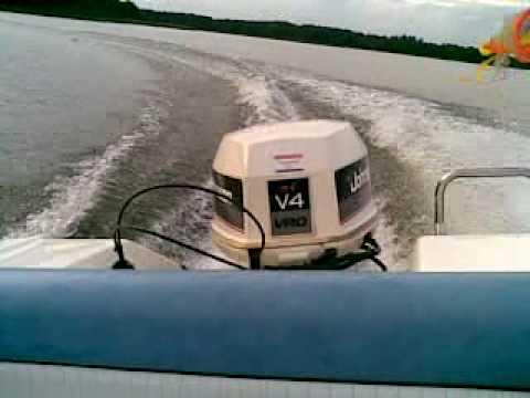 Johnson 90 hp V4 1987 - Running WOT, Nice     - YouTube