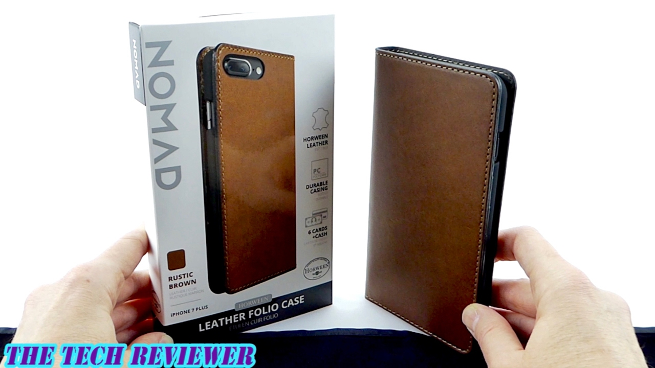 sports shoes d5576 10d86 Nomad Leather Folio: A Slim, Classy, Premium Leather Wallet Case for iPhone  7 Plus!