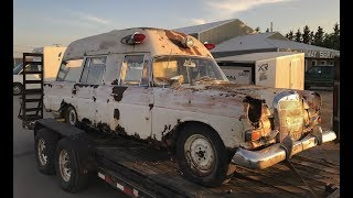 Junkyard Treasures! bringing home a rare Mercedes!