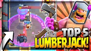 TOP 5 BEST LUMBERJACK DECKS in CURRENT META! Arena 8 to 11 - Clash Royale Strategy