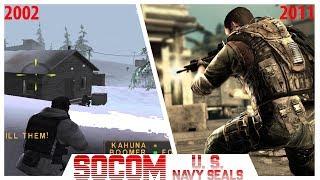 SOCOM U. S.  Navy SEALs Game Series Evolution Playstation 2002 - 2011 (PS2, PS3)