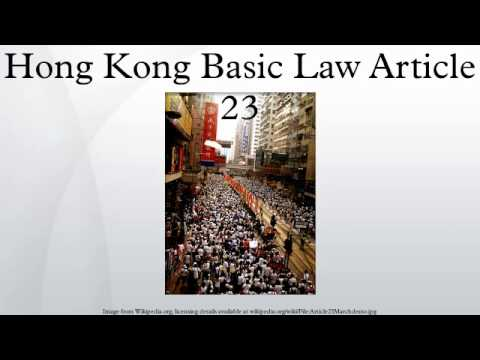 Hong Kong Basic Law Article 23
