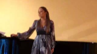 Russian soprano A. Alymova singing a song by P. Tchaikovsky