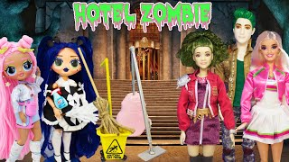 5 DIY Doll Hacks and Crafts Miniature Cleaning Supplies OMG Dusk Gets Job At The Zombie Hotel!