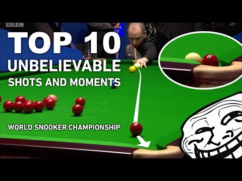 TOP 10 MOST UNLIKELY SHOTS AND MOMENTS!!! World Snooker Championship 2017 (UNBELIEVABLE CLICKBAIT)