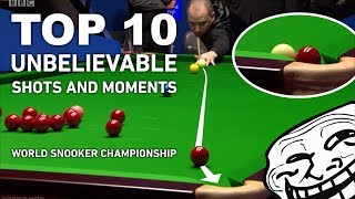TOP 10 RARE SHOTS AND MOMENTS | World Snooker Championship 2017