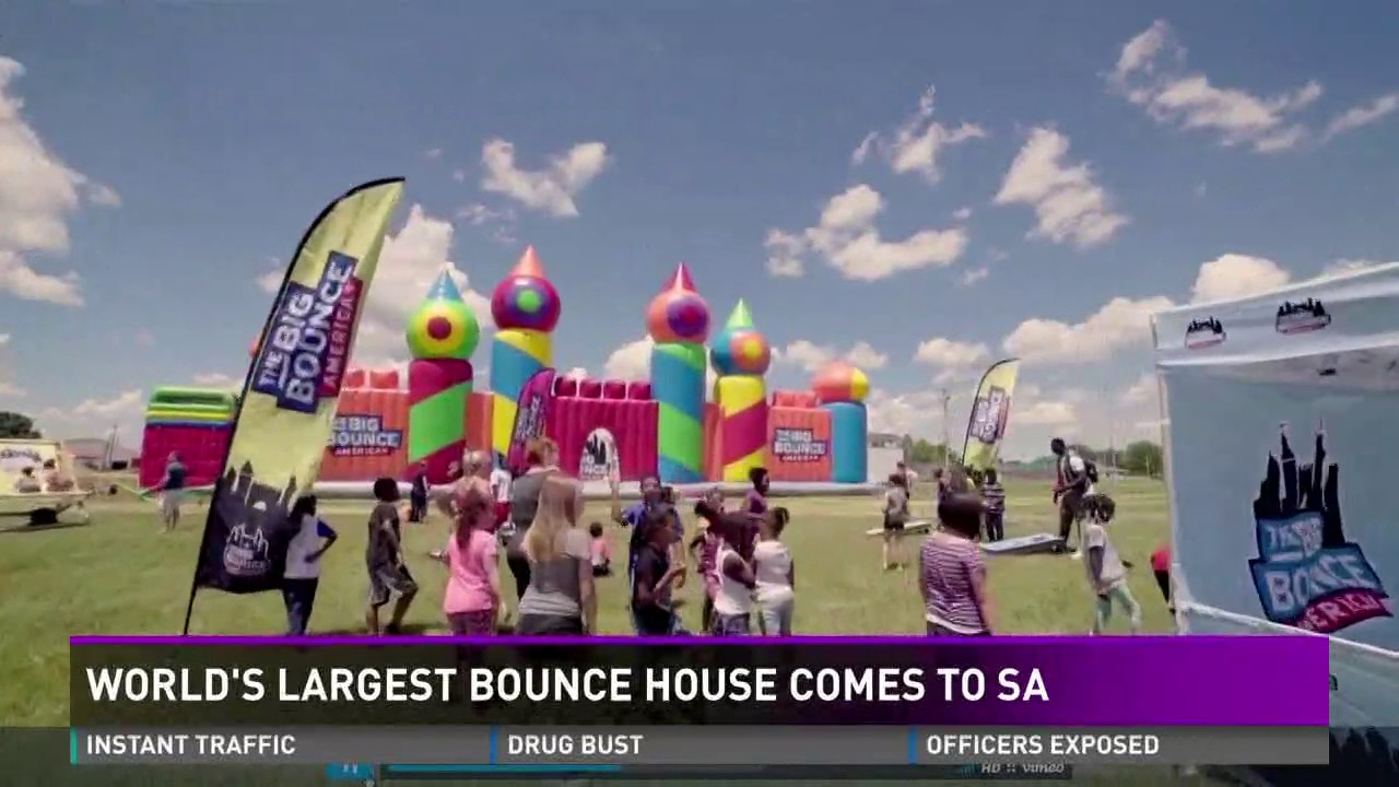 World's largest bounce house comes to San Antonio - YouTube