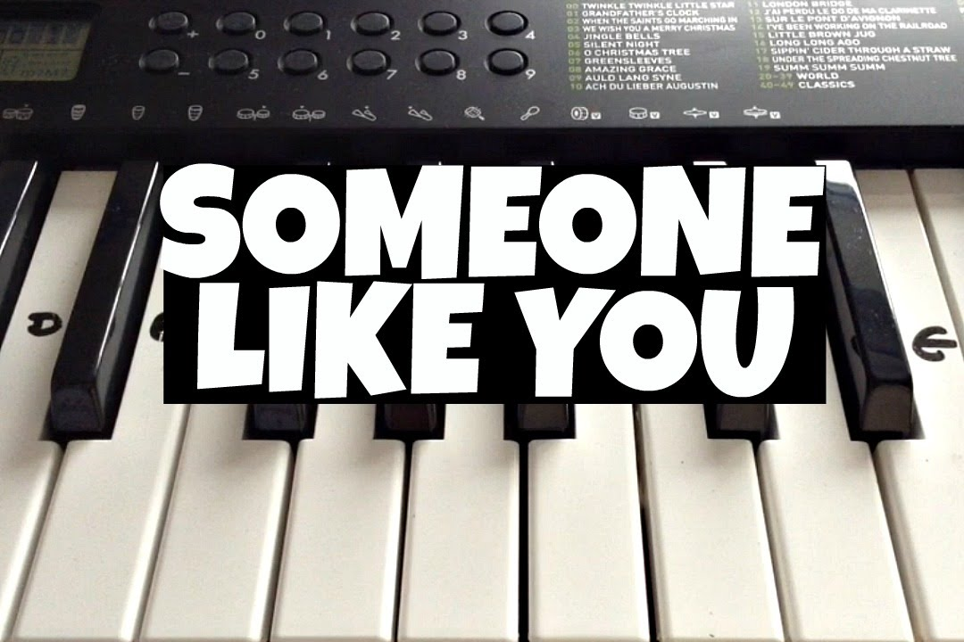 Someone Like You Adele Easy Keyboard Tutorial With Notes Right