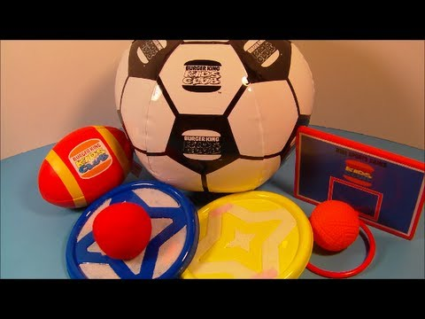 1993 Burger King Mini Sports Games Set Of 4 Kids Meal Toy