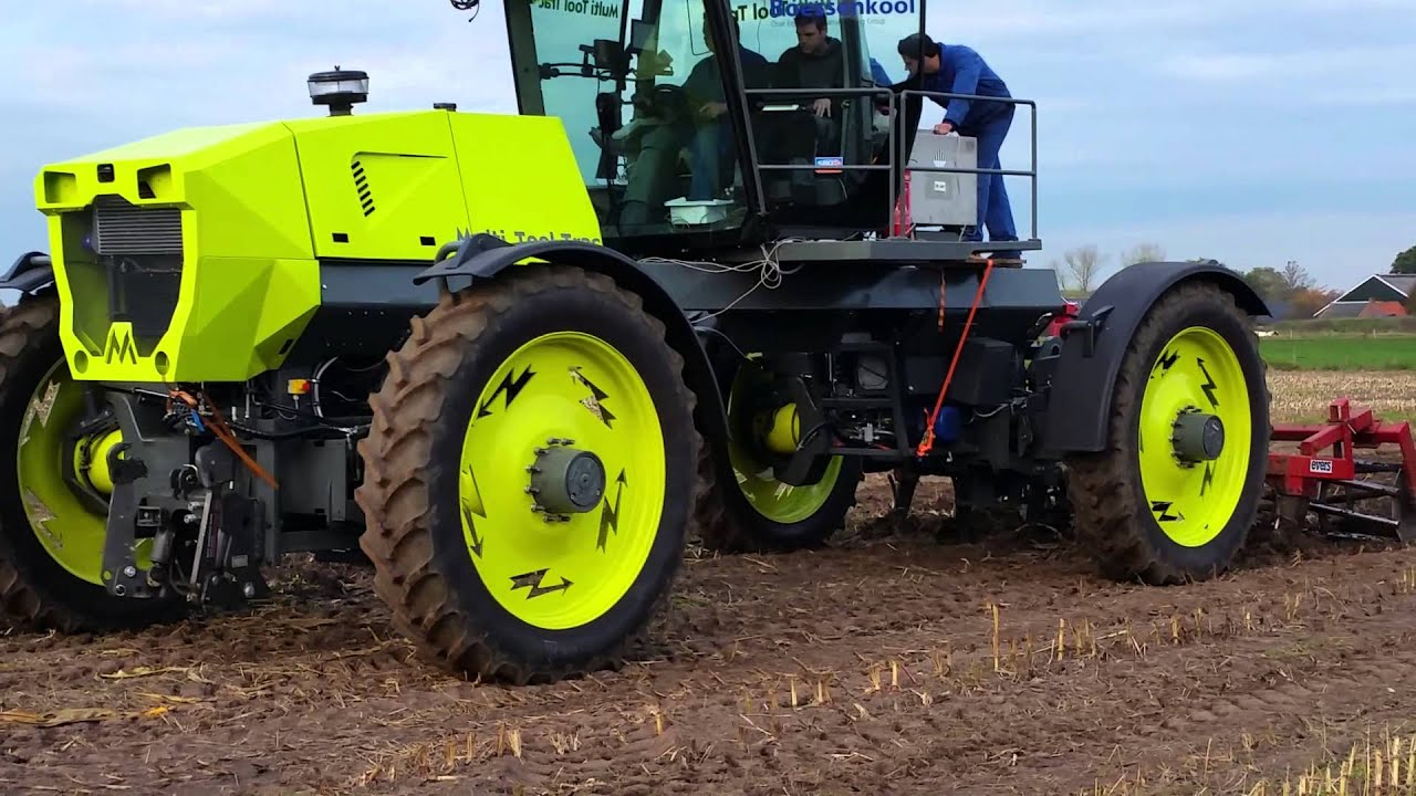 Electrical Shaft Drive Tractor : Multitooltrac first electrical tractor youtube