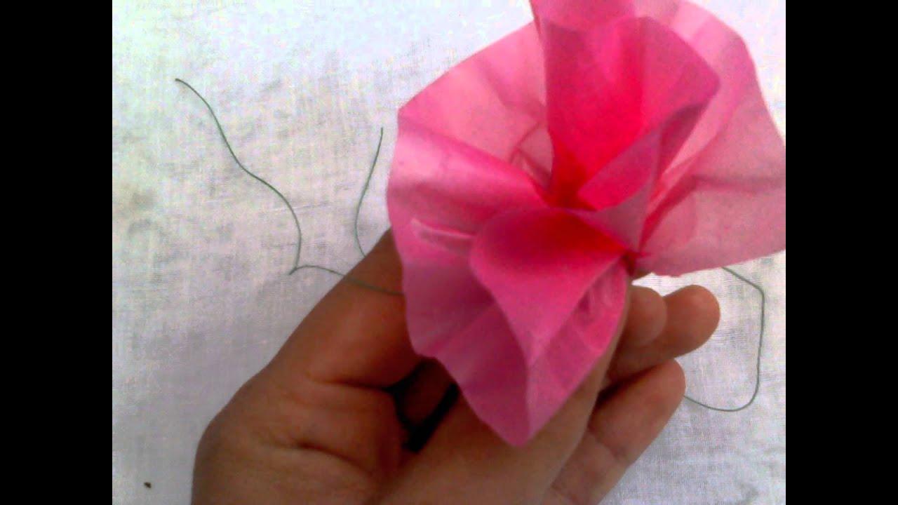 Cara Membuat Bunga Dari Plastik Kresek Youtube Tas Warna Merah